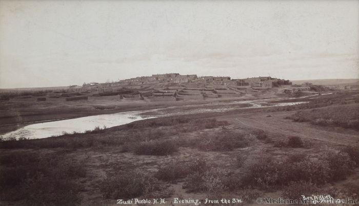 Ben Wittick (1845-1903) - Zuni Pueblo NM, Evening from the S.W., c. 1890