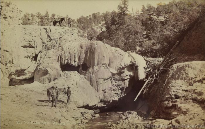 Ben Wittick (1845-1903) - The Old Soda Dam, Jemez River, N.M., 1880