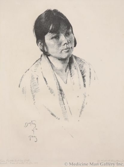 x SOLD W. Herbert Dunton (1878-1936) - Pueblo Girl