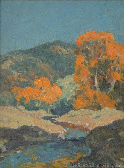 SOLD E. I. Couse (1866-1936) - Twining Canyon, Taos