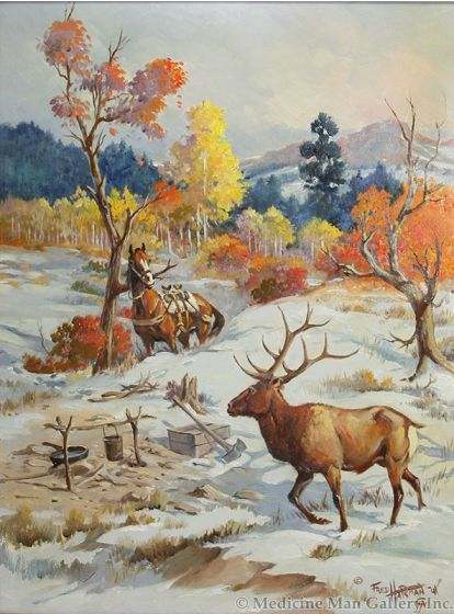 SOLD Fred Harman, Jr. (1902-1982) - While the Hunter Hunts
