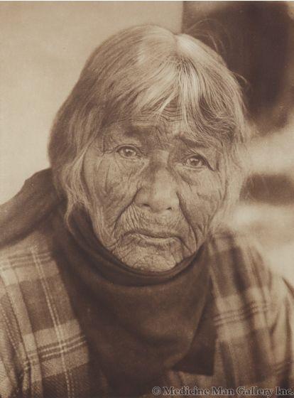 Edward S. Curtis (1868-1952) - Aged Pomo Woman