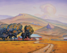 SOLD Howard Post - Ranch at Pointed Buttes - Giclee