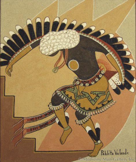 SOLD Pablita Velarde (1918-2006) - Pueblo Dancer