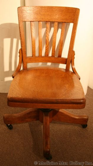 """Vintage Office Chair, c. 1910s, 33.5"""" x 18"""" x 16"""" (F1219)"""