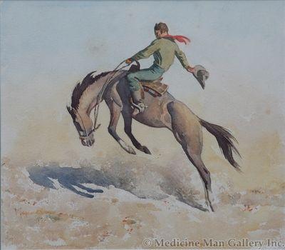Maynard Dixon (1875-1946) - SOLD - Bucking Bronco