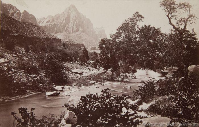 Ben Wittick (1845-1903) and John K. Hillers (1843-1925) - Zion's Peak, Rio Virgin, Utah, 1873