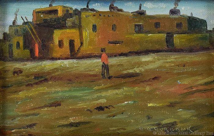 SOLD E. A. Burbank (1858-1949) - Laguna Indian Pueblo