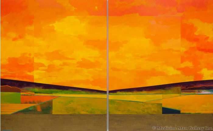 Mark Bowles - Golden Harvest (Diptych) (Giclee)