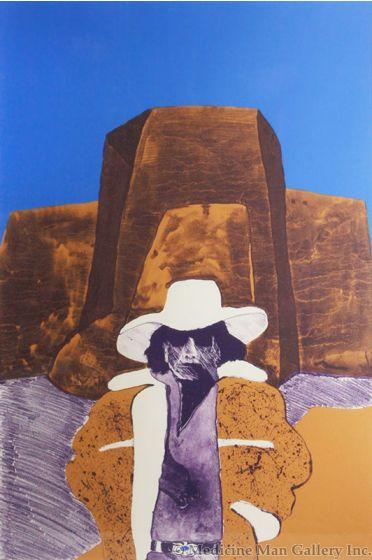 SOLD Fritz Scholder (1937-2005) - Self Portrait with Hat