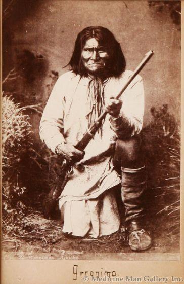 SOLD Chiricahua Apache Indian Geronimo Cabinet Card