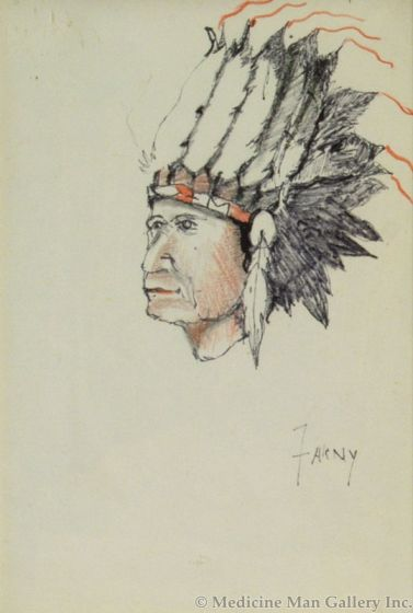 SOLD Henry F. Farny (1847-1916) - Indian Chief