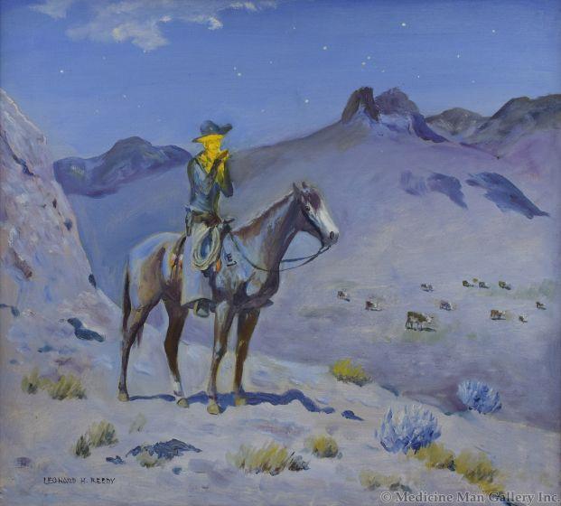 Leonard Reedy (1899-1956) - Night Hawk on the E Lazy J
