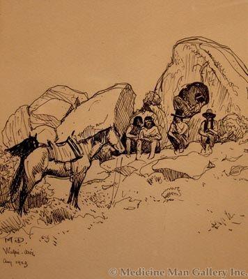 Maynard Dixon (1875-1946) - SOLD - Men of Walpi