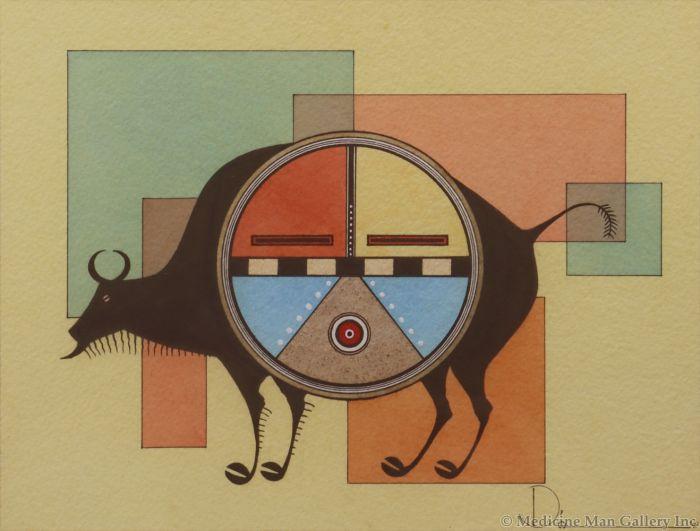 Tony Da (1940-2008) - Sunface Buffalo (PDC91138A-0120-027)