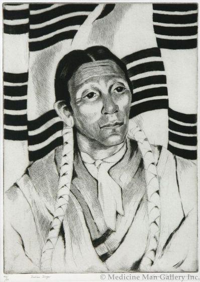 SOLD Gene Kloss (1903-1996) - Indian Singer