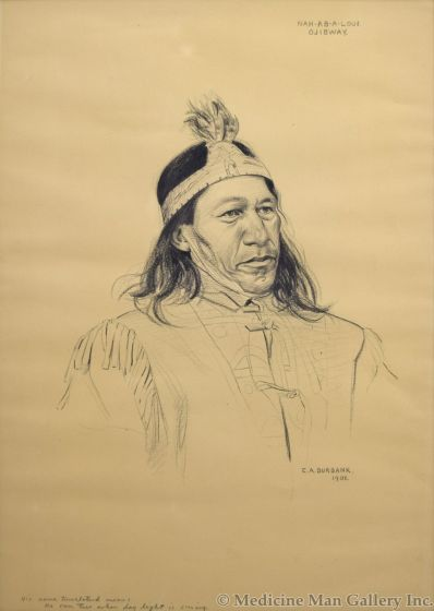 E.A. Burbank (1858-1949) - Nah-Ab-A-Loui, Ojibway