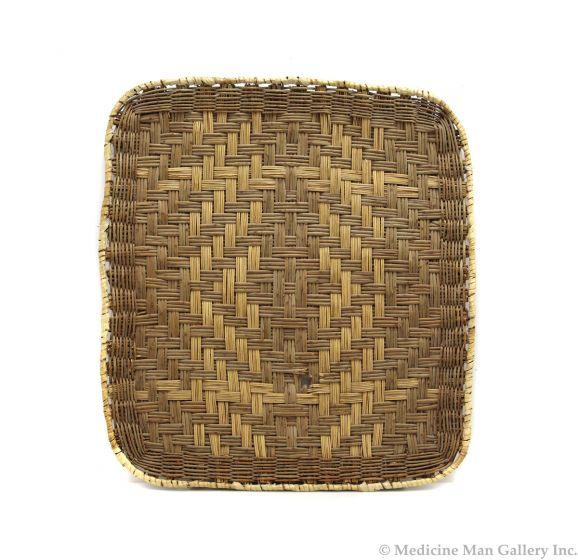 "Hopi Rectangular Wicker Basket c. 1960s, 17"" x 19"" (SK3107)"