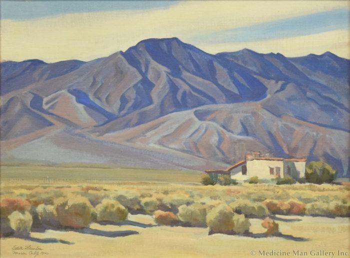 Edith Hamlin (1902-1992) - Santa Rosas in the Morning c. 1940s