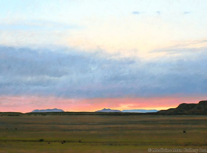 Jeff Aeling - Sunset North of Comanche Gap, NM (PLV90107-096-002)