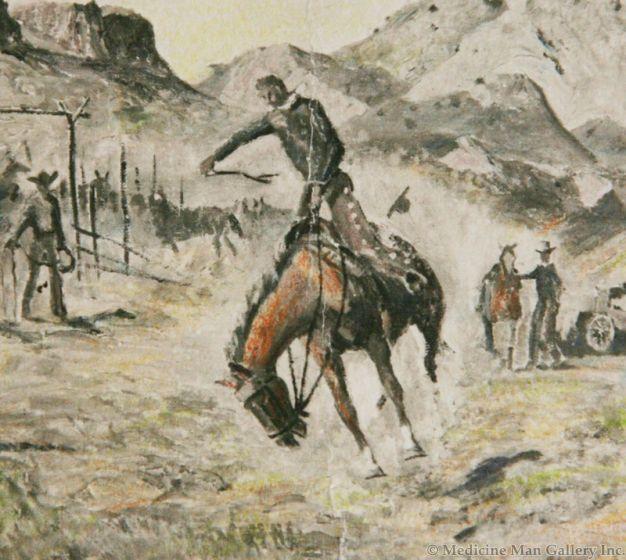 SOLD Pete Martinez (1894-1971) - A Rough String Rider