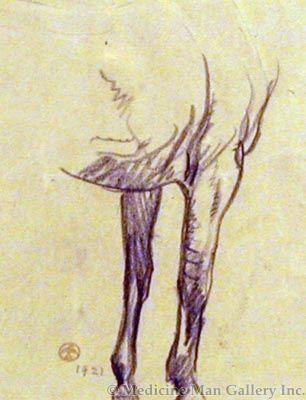 Maynard Dixon (1875-1946) - SOLD - Horse Foreleg Study