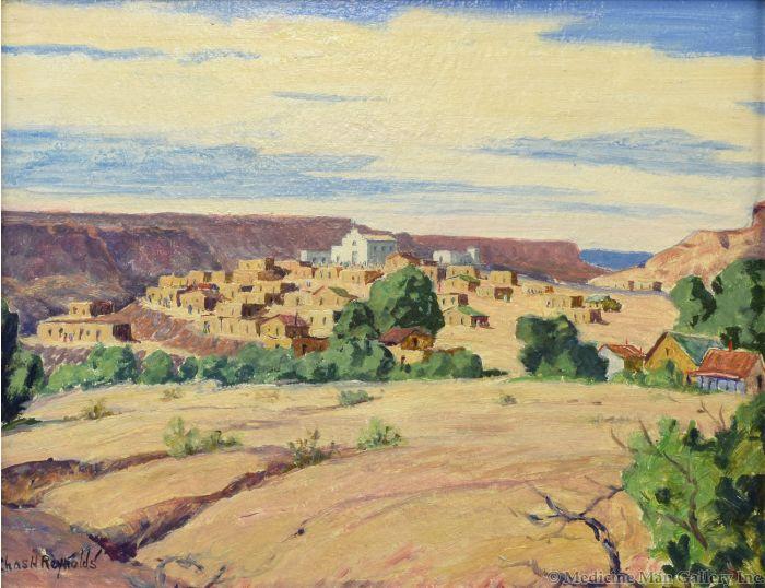 Charles Reynolds (1902-1963) - Old Laguna Pueblo