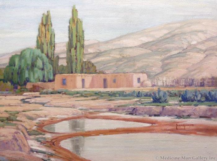 SOLD Carlos Vierra (1876-1937) - Ranchito-Cuyamungue