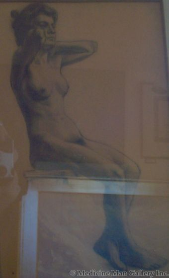 SOLD Frank Tenney Johnson (1874-1939) - Nude Female (Front View)