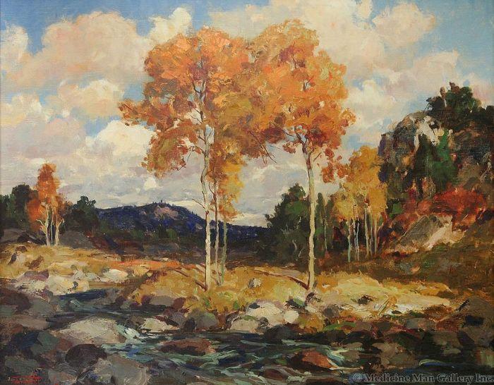 SOLD Fremont Ellis (1897-1985) - Autumn Landscape