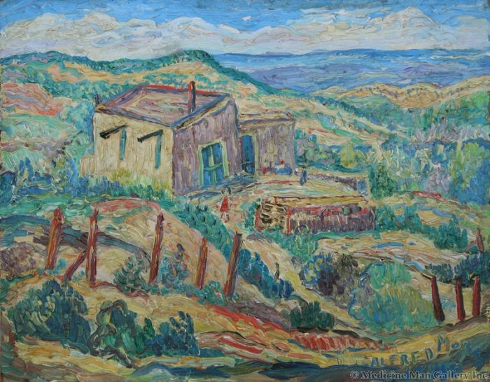 SOLD Alfred Morang 1901-1958 Green Hills of New Mexico