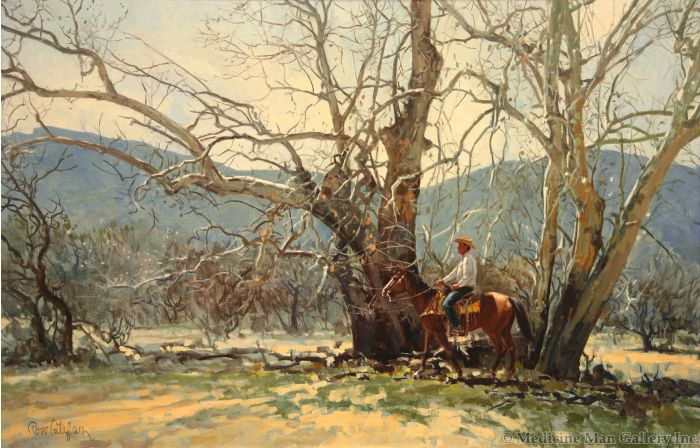 SOLD Ross Stefan (1934-1999) - Along Roadrunner Creek