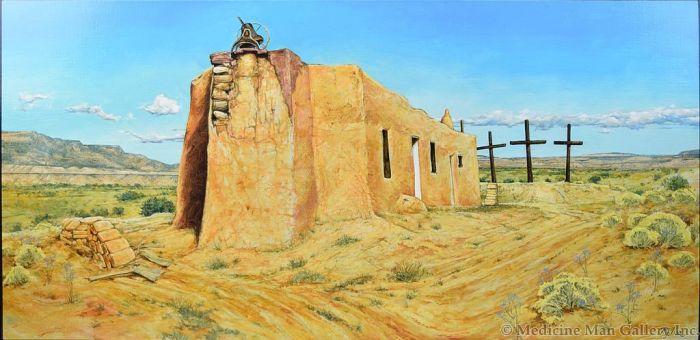 Paul Pletka (b. 1946) - Abiquiu Church