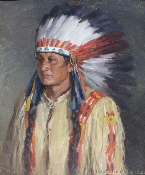 SOLD Joseph Henry Sharp (1859-1953) - Jerry