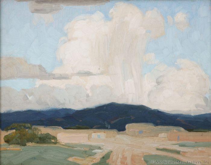 SOLD Victor Higgins (1884-1949) - Taos Thunderstorm
