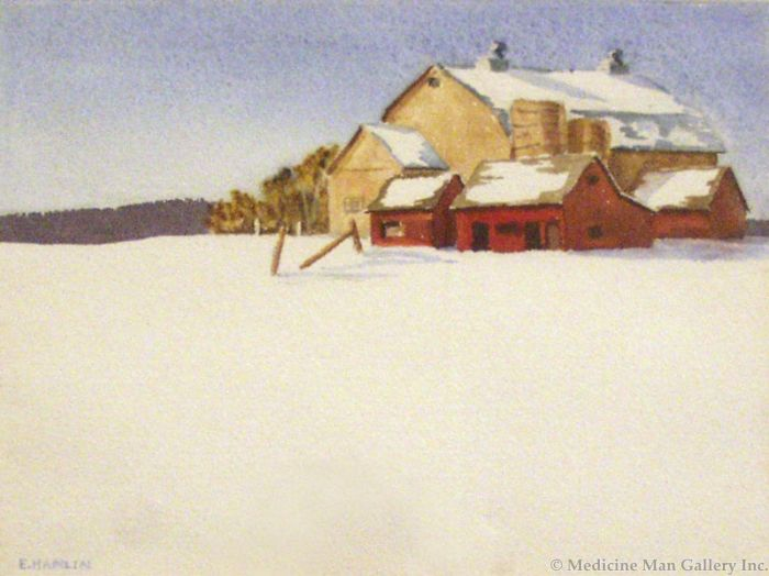 SOLD Edith Hamlin (1902-1992) - Red Barn