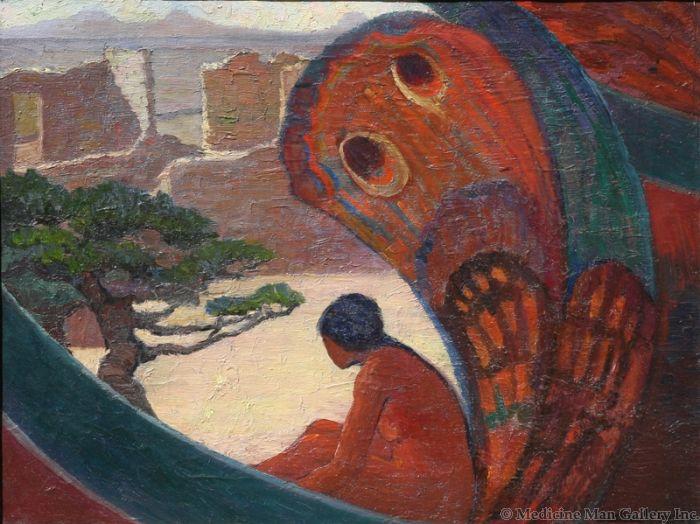 SOLD Laura Adams Armer (1874-1963) - Taos