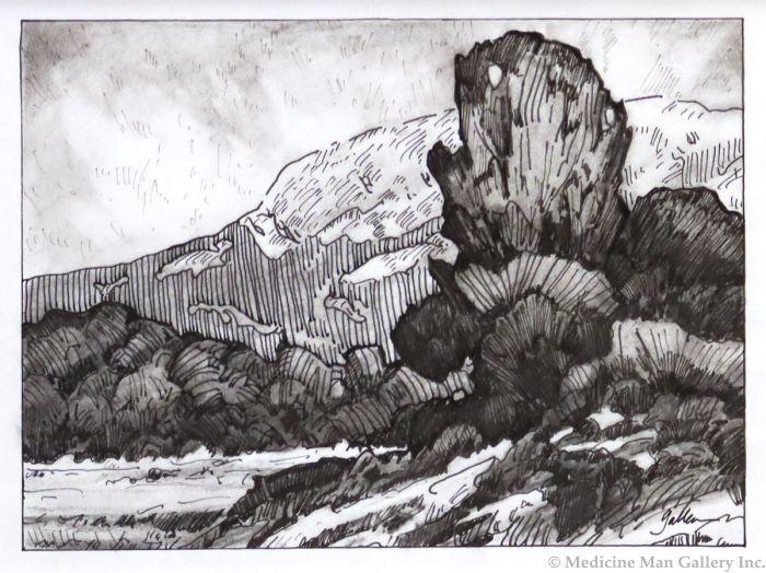 Bill Gallen - Near Puyloubier (Proyence, France Mt. Ste Victoire - Mattise's Mountain) (PLV90713-0521-002)