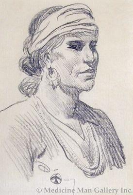 Maynard Dixon (1875-1946) - SOLD - Navajo Man