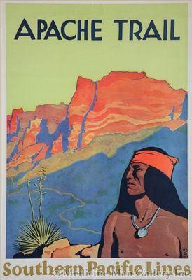 Maynard Dixon (1875-1946) - SOLD - Apache Trail (Southern Pacific Railroad Poster)