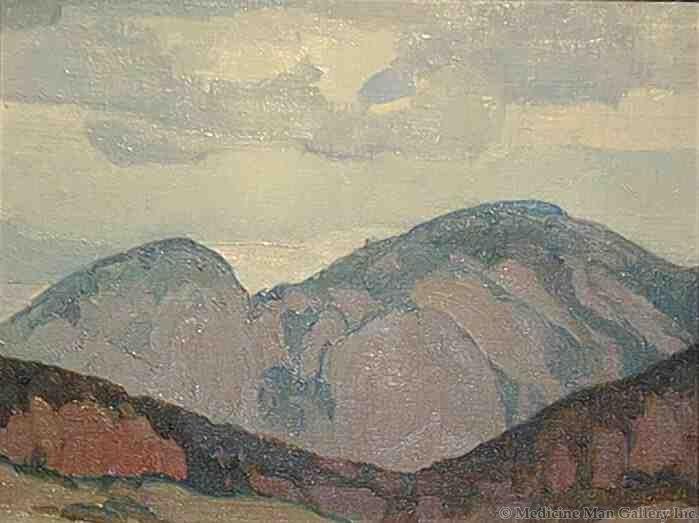 LD W. Herbert Dunton (1878-1936)- Taos Mountain