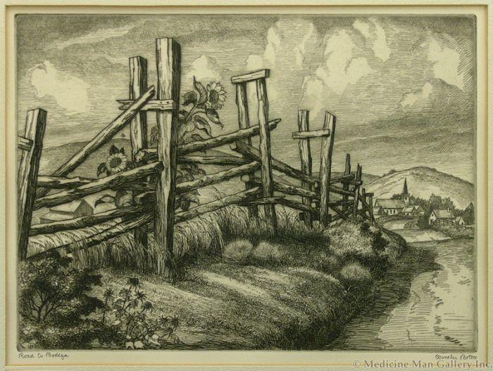 SOLD Cornelis Botke (1887-1954) - Road to Bodega