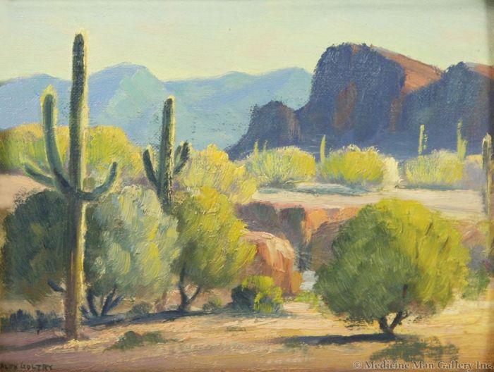 SOLD Ralph Goltry (1884-1971) - Verdant Desert