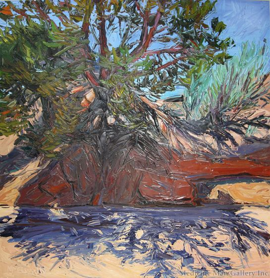 SOLD Louisa McElwain (1953-2013) - Cutbank and Tree