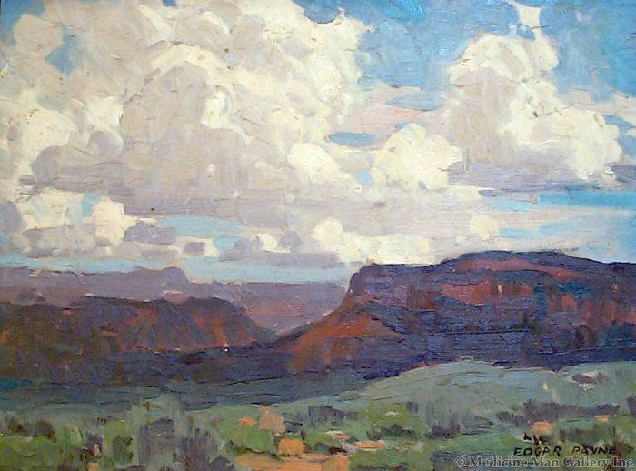 SOLD Edgar Payne (1883-1947) - Skies of Canyon de Chelly
