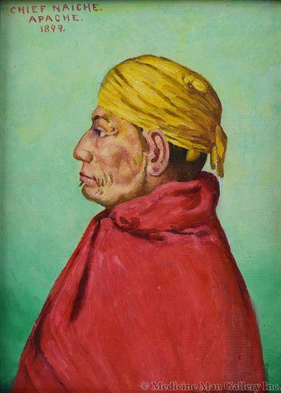 SOLD E. A. Burbank (1858-1949) - Chief Naiche, Apache
