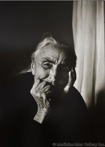 Dan Budnik (1933-2020) - Georgia O'Keeffe After Supper III, Ghost Ranch, New Mexico; March 1975 (PDC90211C-0121-021)