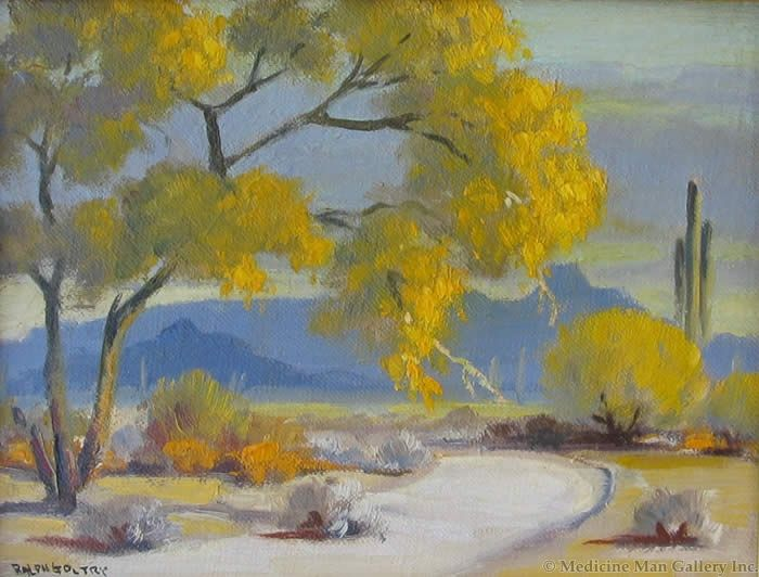 SOLD Ralph Goltry (1884-1971) - Blooming Palo Verdes