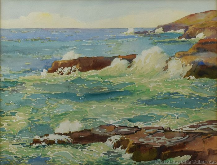 Joseph Henry Sharp (1859-1953) - View from Halona, Blow Hole (PDC91660-1219-002)