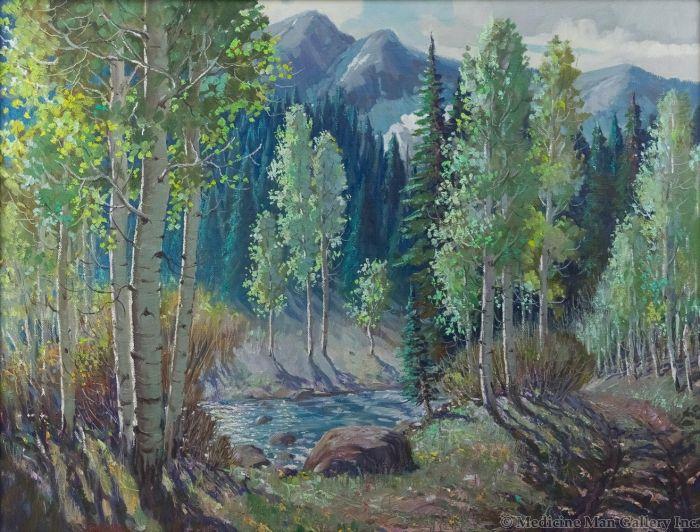 Ben Turner (1912-1966) - Aspen Mountain Stream